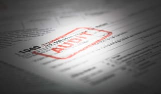 picture of tax form being audited