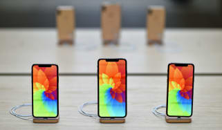 LONDON, ENGLAND - OCTOBER 26:General view of the Apple IPhone XR during the Covent Garden re-opening and iPhone XR launch at Apple store, Covent Garden on October 26, 2018 in London, England.