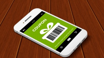 Image of a digital coupon on a cell phone