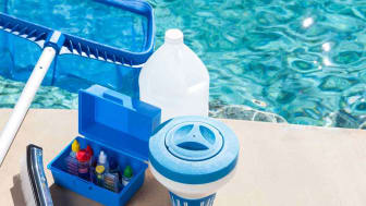 pool supplies by a pool