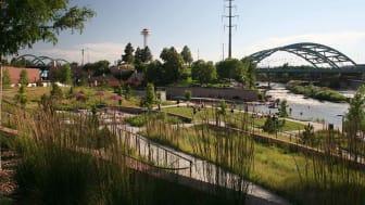 A park by a river