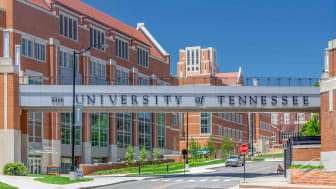 Entrance and walkway to the the campus of the University of Tennessee.