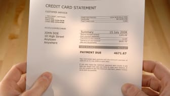 A credit card bill