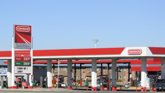 Longmont, Colorado, USA - November 20, 2012: The ConocoPhillips gas station near the I-25 Interstate. ConocoPhillips is a multinational energy company with revenues of over $250 billion.
