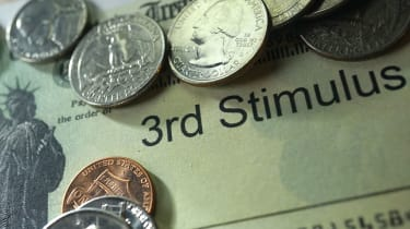 picture of third stimulus check with coins on it