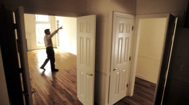 person touring home for sale
