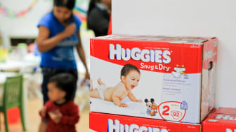 LOS ANGELES, CA - AUGUST 21:A general view of the atmosphere while Giuliana Rancic donates toys from Duke's 1st birthday party and helps distribute 1,000,000 Huggies Snug & Dry Diapers at the
