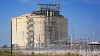 Liquefied natural gas plant in Louisiana, pan