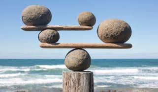 Rocks balancing precariously