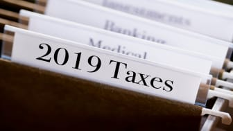 picture of folder for 2019 tax information