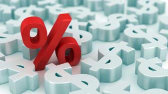 photo illustration of interest rate symbol