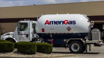 Indianapolis, US - August 2, 2016: AmeriGas Truck. AmeriGas is a propane company serving residential, commercial, industrial, agricultural and motor fuel customers II