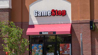 Maple Grove, Minnesota - July 21, 2019: Exterior of a GameStop retail store. This retail chain specializes in video game and consoles sales