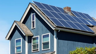 solar panels installed on home