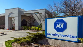 Mississauga, Ontario, Canada - May 13, 2018:Sign at the head office of ADT security Services in Mississauga, Canada. ADT Inc. is an American company that provides electronic security.