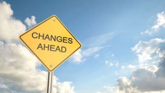"""picture of road sign saying """"changes ahead"""""""