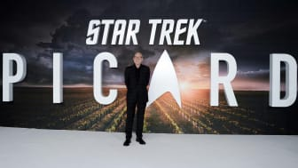 A promotional backdrop for Star Trek: Picard