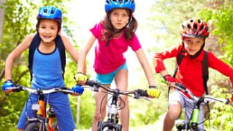 Children on bikes