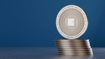 stack of silver digital coins