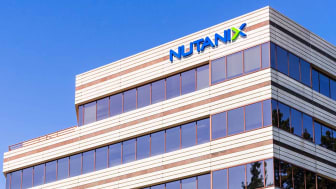 August 26, 2019 San Jose / CA / USA - Nutanix HQ in Silicon Valley; Nutanix, Inc is a cloud computing software company that sells hyper-converged infrastructure appliances and software-define