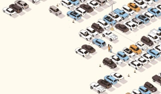 used cars on a lot