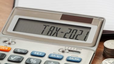 calculator saying tax 2021