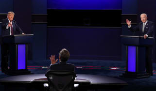 President Donald Trump debates former Vice President Joe Biden