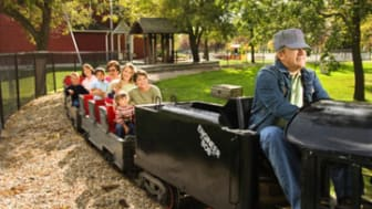 Train ride at amusement park