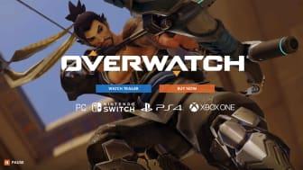 Screenshot of Overwatch game website