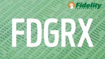 Composite image representing Fidelity's FDGRX fund