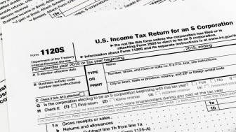 picture of tax form for small business S corporations