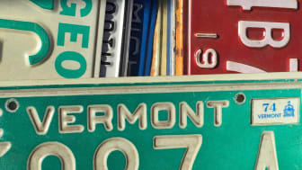 Photo of state license plates