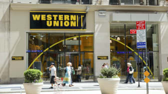 New York, New York, USA - May 1, 2011: The exterior of a Western Union store on Broadway above 40th street in Manahattan. Pedestrians can be seen.[url=/my_lightbox_contents.php?lightboxID=362