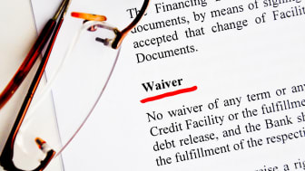 picture of a waiver clause in a contract