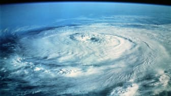 picture of a hurricane as seen from above