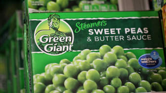 SAN RAFAEL, CA - SEPTEMBER 03:Packages of General Mills Green Giant frozen peas are displayed at a supermarket on September 3, 2015 in San Rafael, California. General Mills announced plans to