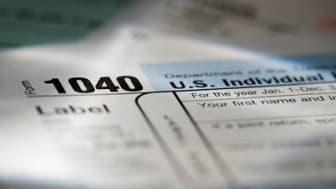 Close_up of a 1040 tax form