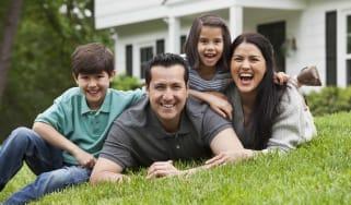 photo illustration of a happy family