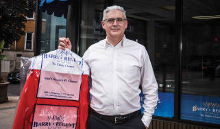 Richard Atack, owner of Barry-Regent Dry Cleaners in Chicago.