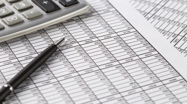 picture of financial data and calculator