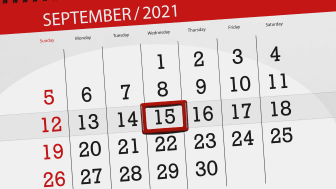 picture of a September 2021 calendar with the 15th circled