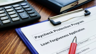 picture of PPP loan forgiveness application form
