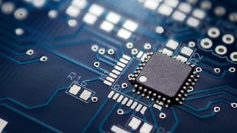 Close-up image of a semiconductor