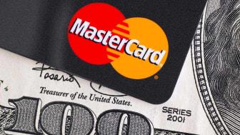 A Mastercard credit card