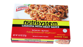 Indio, USA - June 1, 2011: A package of Nutrisystem Lasagna with Meat Sauce. Nutrisystem offers prepackaged, portion-controlled meal plans for people who are trying to lose weight.