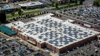 Outside of Walmart Supercenter from above
