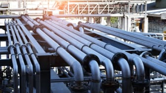 pipeline in large oil-refinery plant