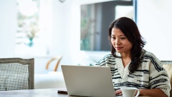 picture of woman using laptop computer
