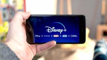 Disney+ app on a phone