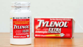 Photo of a bottle of Tylenol